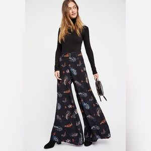 Free People FP One Floral Wide Leg Tuxedo Pants